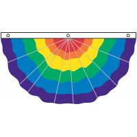Nylon Pleated Rainbow Fan 3' x 6'