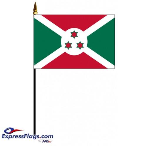 Burundi Mounted Flags - 4in x 6in030700