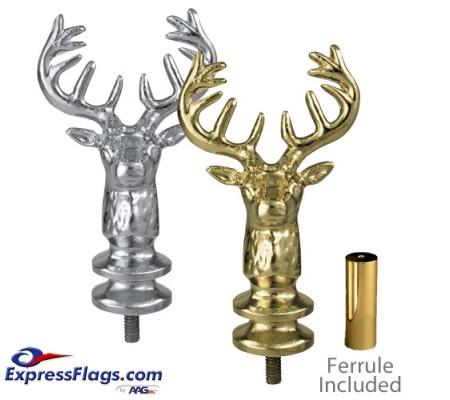 Metal Elks Head Ornaments for Indoor Display FlagpolesEH7