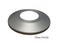 Standard Profile Aluminum Flagpole Flash Collars - Clear Finish