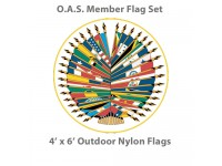 4' x 6' Complete O.A.S. Member Flags - 35 Outdoor Nylon Flags