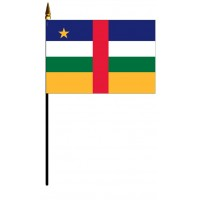 Central African Republic Mounted Flags - 4in x 6in