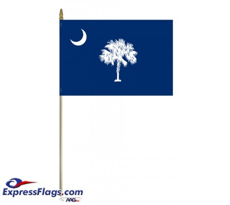 Mounted South Carolina State Flags