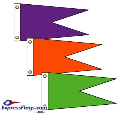 Angle Burgee Solid Color Nylon FlagsNY-AB