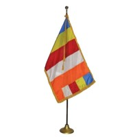 3' x 5' Deluxe Buddhist Indoor Flag Set