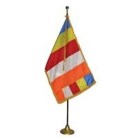 3' x 5' Deluxe Buddhist Indoor Flag Set