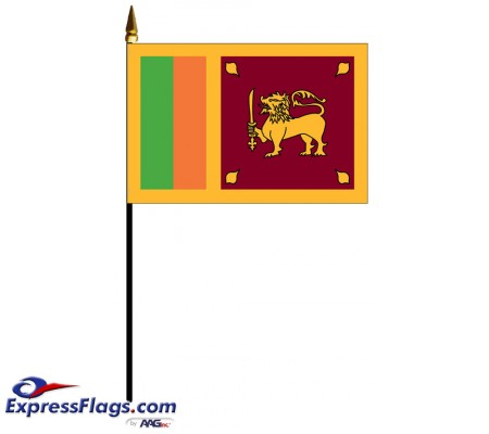 Sri Lanka Mounted Flags - 4in x 6in033885