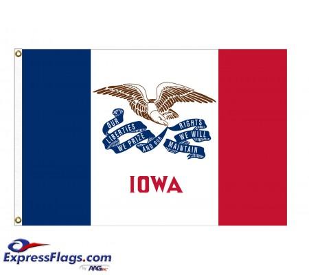 Nylon Iowa State FlagsIA-NYL