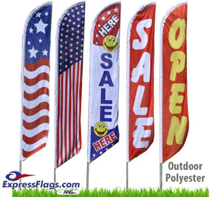 Stock Messages Feather Flags - 11.5 Ft. PolyesterRF-FTHR