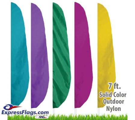 Nylon Solid Color Feather Flags - 7 Ft.NYL-FTHR7-SC
