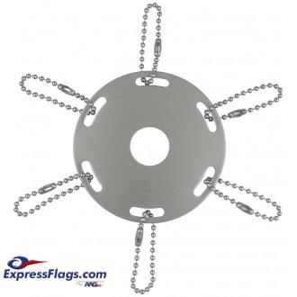 Metal Award Ribbon Rings for Indoor Display FlagpolesMAR
