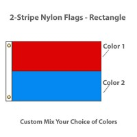 2-Horizontal Stripe Nylon Flags - Rectangle