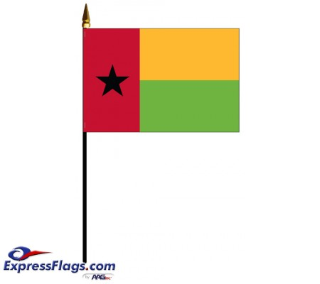 Guinea-Bissau Mounted Flags - 4in x 6in031821