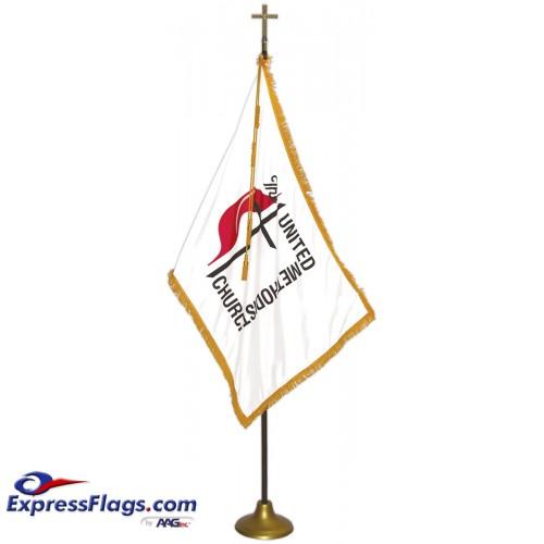 Deluxe Aluminum Pole United Methodist Flag Indoor Display SetsFSA-UM