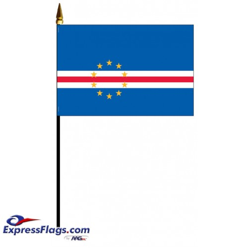 Cape Verde Mounted Flags - 4in x 6in030793