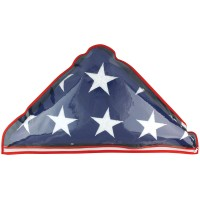 Plastic Memorial Flag Case - Fits 5' x 9-1/2' Flag