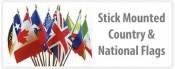 International Flags - Stick Mounted