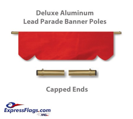 Deluxe Aluminum Lead Parade Banner Poles with Capped EndsDLX-C