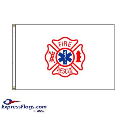 Fire Rescue Flag - 3  x 5  Endura-Nylon070286
