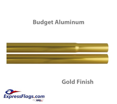 Budget Aluminum Indoor Poles - Gold FinishBPA-G