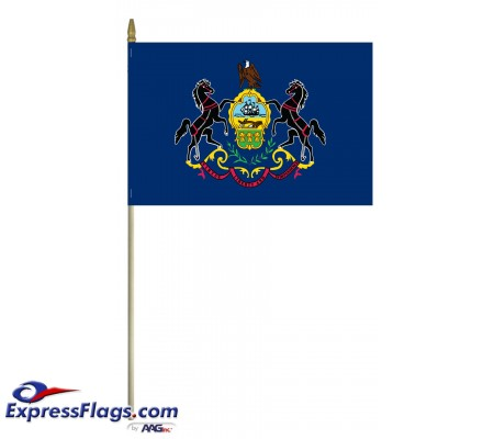 Mounted Pennsylvania State Flags