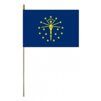Mounted Indiana State Flags