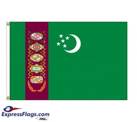 Turkmenistan Nylon Flags (UN Member)TKM-NYL