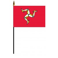 Man, Isle Of Mounted Flags - 4in x 6in