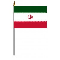 Iran Mounted Flags - 4in x 6in