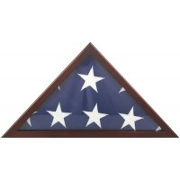 Poplar Memorial Flag Case - Fits 5' x 9-1/2' Flag