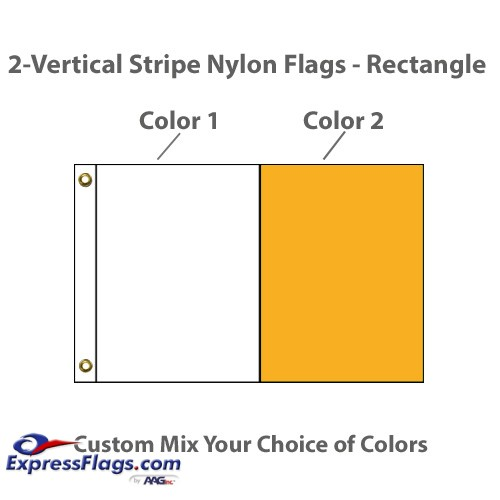 2-Vertical Stripe Nylon Flags - RectangleNY-R2VS