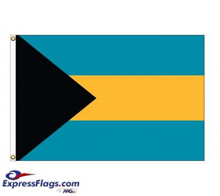 Bahamas Nylon Flags - (UN, OAS Member)BHS-NYL