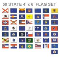 4'x6' 50 State Flag Set - Endura-Nylon