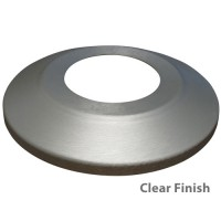 Standard Profile Aluminum Flagpole Flash Collars - Clear Finish