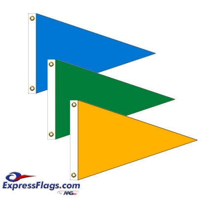 Triangle Solid Color Nylon FlagsNT
