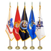 3' x 5' Deluxe Indoor U.S. Military Flag Sets (5 Branches)