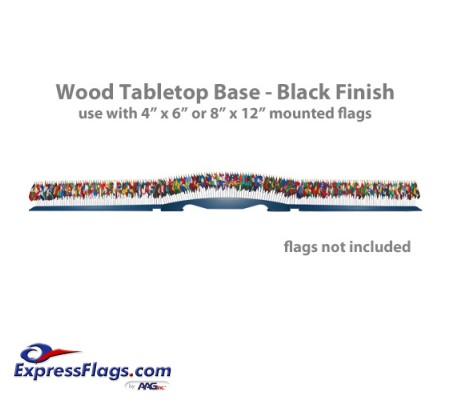 Wood Tabletop Base - 193 Flag Capacity050520