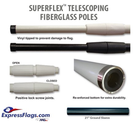 Superflex Telescoping Fiberglass PolesTSFP
