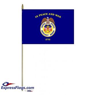 Merchant Marine Stick Mounted FlagsUSM-MM-MTD