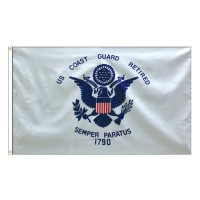 Coast Guard Retired Flags - 3' x 5'