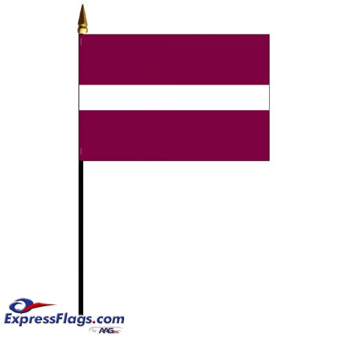 Latvia Mounted Flags - 4in x 6in032373