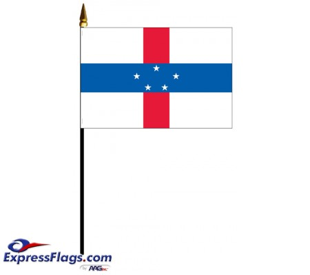 Netherlands Antilles Mounted Flags - 4in x 6in032958