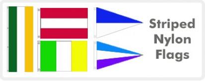 Striped Nylon Flags