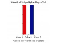3-Vertical Stripe Nylon Tall Flags - 8' x 3'