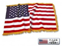 American Flags with Pole Hem and/or Fringe