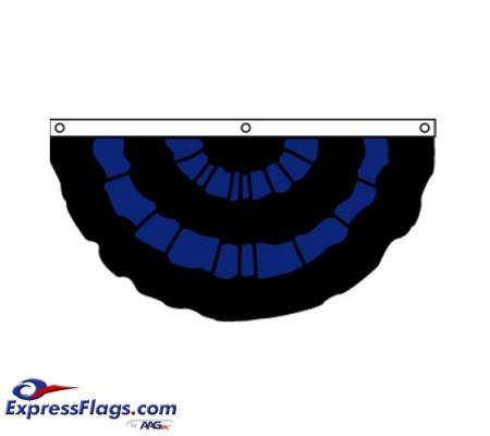 Nylon Pleated Mourning Fan 3  x 6070318