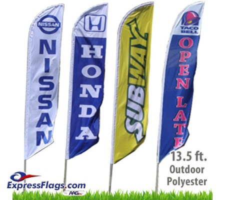 Custom Feather Flags - 13.5 Ft.RF-FTHR-CL
