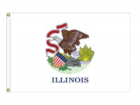 Poly-Max Illinois State Flags
