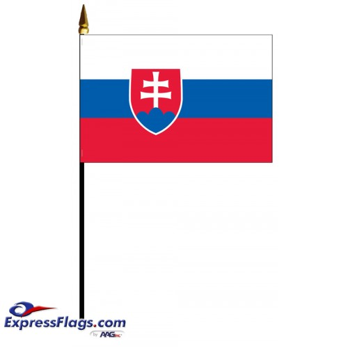 Slovakia Mounted Flags - 4in x 6in033756