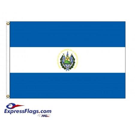El Salvador Nylon Flags - (UN, OAS Member)SLV-NYL